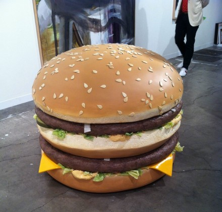 Tom Friedman, Big Big Mac, via Daniel Creahan for Art Observed