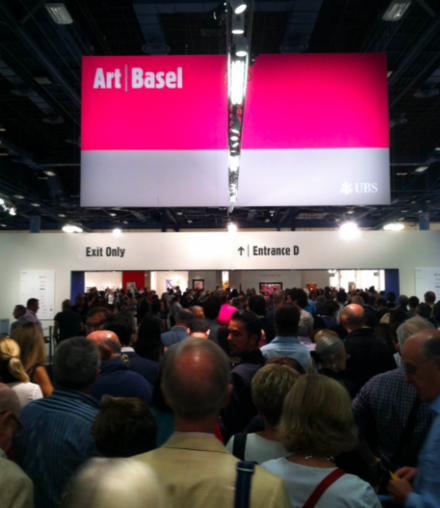 VIP's prepare to enter at Art Basel, via Daniel Creahan for Art Observed