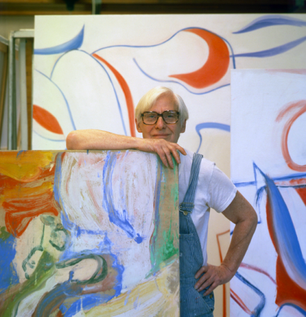 Willem de Kooning in his studio, Springs, Long Island, late October 1983, © 2013 Arnold Newman Artwork © 2013 The Willem de Kooning Foundation:Artists Rights Society (ARS), New York, Arnold Newman:Getty Images