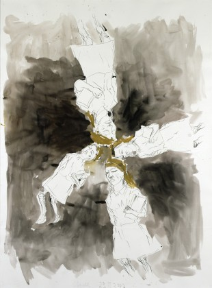 Georg Baselitz, Ohne Titel - 29.III.2002. Eine Tochter Sovjetkirgisiens (Tschuikov), (2002), via The Albertina