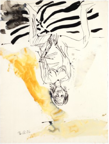 Georg Baselitz, Untitled, 16 April (2006), via The Albertina