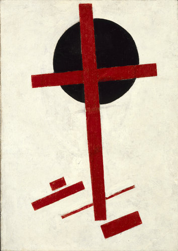 Kazimir Malevich, Mystic Suprematism (red cross on black circle) (1920-1922), via New York Times