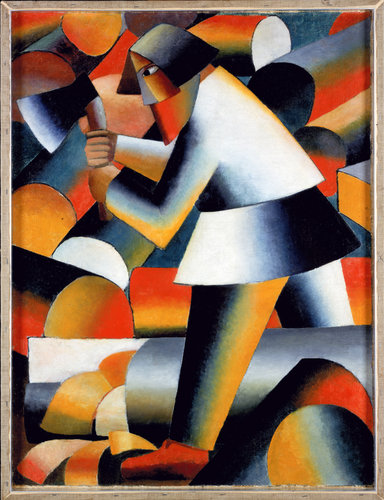 Kazimir Malevich, The Woodcutter (1912), via New York Times