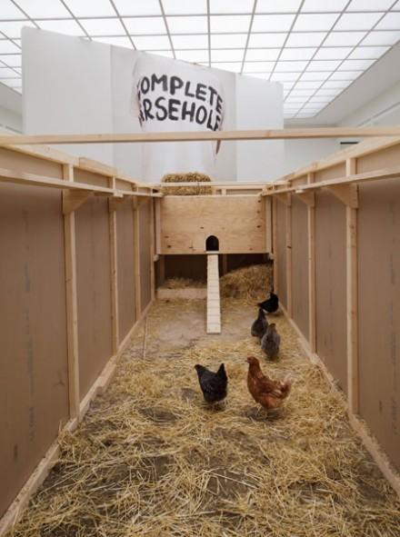 Sarah Lucas, NOB (Installation View), via Secession