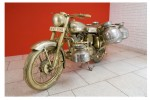Subodh Gupta's 'Bullet 2007 Brass, Chrome Life-sized Royal Enfield Motorcycle' via Wall Street Journal