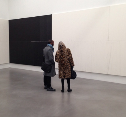 Wade Guyton, (Installation View), via Art Observed