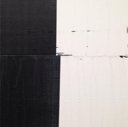 Wade Guyton, (detail), via Art Observed
