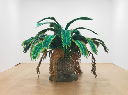 Yutaka Sone, Tropical Composition/Canary Island Palm Tree #1, (2012), via David Zwirner
