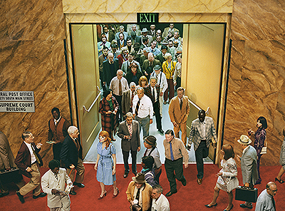 Alex Prager, Crowd # 8 (City Hall), Courtesy of Lehmann Maupin