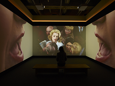 Alex Prager, Face in the Crowd (Installation View) Courtesy of Lehmann Maupin