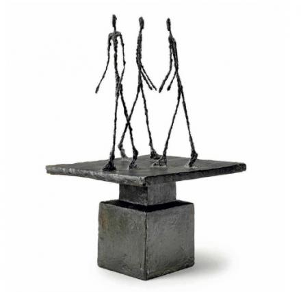 Alberto Giacometti, Trois hommes qui marchent I (1951), via Christie's