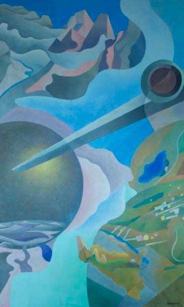Benedetta (Benedetta Cappa Marinetti) Synthesis of Aerial Communications (Sintesi delle comunicazioni aeree), (1933–34), Courtesy Guggenheim