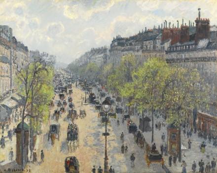 Camille Pissarro, Le Boulevard Montmartre, Matinée De Printemps (1897), via Sotheby's