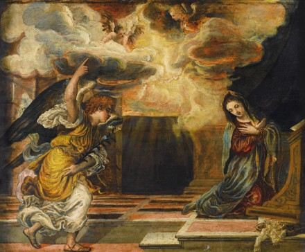 El Greco, The Annunciation, via Sotheby's
