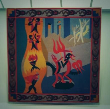 Fortunato Depero Little Black and White Devils, Dance of Devils (Diavoletti neri e bianchi, Danza di diavoli), (1922–23), via Art Observed