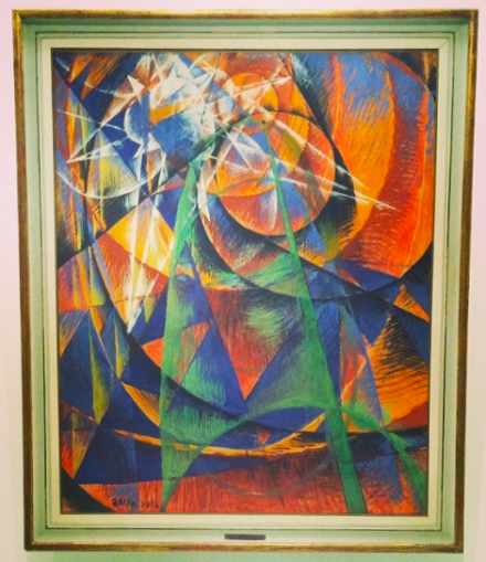 Giacomo Balla, Mercury Passing Before the Sun (1914), via Art Observed