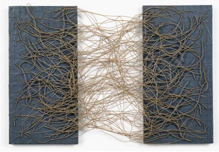 Eva Hesse, Metronomic Irregularity I (1966)