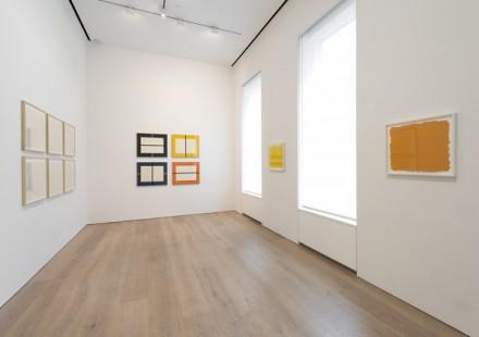 Prints: Flavin, Judd, Sandback, (Installation View)