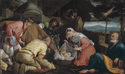 Jacopo Bassano, The Adoration of the Shepherds, via Christie's