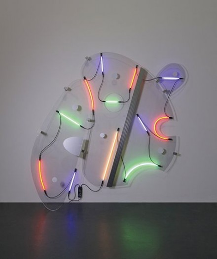 Keith Sonnier, Lobbed Shape (2013), via Pace