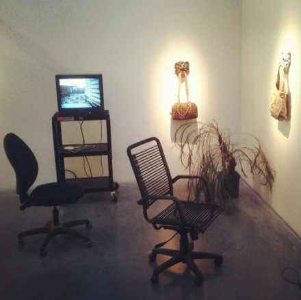 Laure Prouvost, For Forgetting (Installation View), via Art Observed