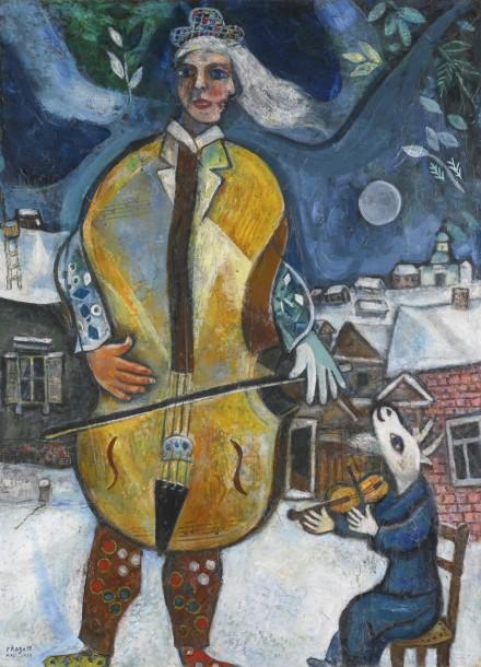 Marc Chagall, Le Violoncelliste (1939), Via Sotheby's