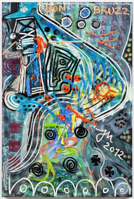 Jonathan Meese, HEY, QUADRATUR DES KREISES MI ON... (2012)