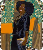 Mickalene Thomas, Mama Bush: (Your Love Keeps Lifting Me) Higher and Higher, 2009, via Creative Time Reports