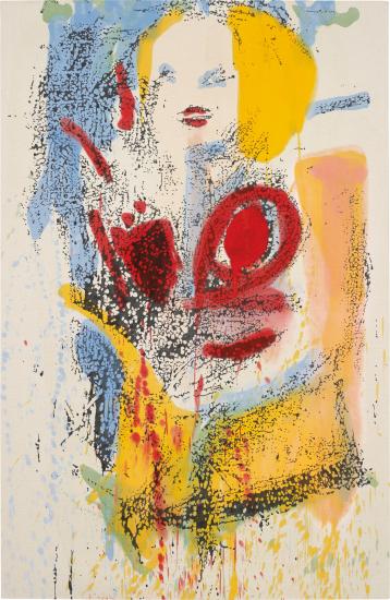 Nate Lowman, Untitled Marilyn #13 (2012), via Phillips