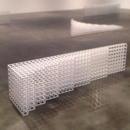 Sol Lewitt, Horizontal Progressions (Installation View), via Art Observed