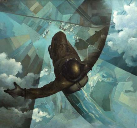 Tullio Crali Before the Parachute Opens (Prima che si apra il paracadute), (1939), Courtesy Guggenheim Museum