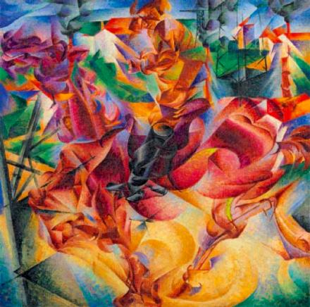 Umberto Boccioni Elasticity (Elasticità), (1912), Courtesy Guggenheim Museum