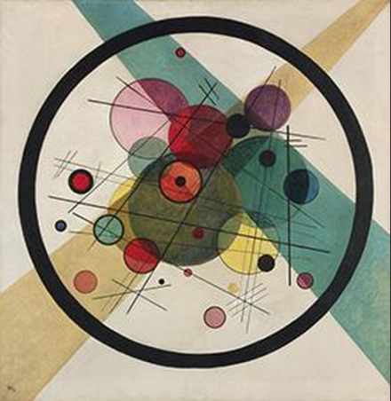 Vasily Kandinsky, Circles within a Circle (1923), Neue Gallery