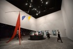 "Alexander Calder sculpture ""Janey Waney"" at the entrance to the European Fine Art Fair, via New York Times"