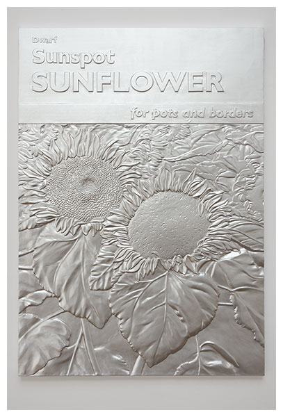 Charles Ray, Sunflower relief (2011), via Matthew Marks