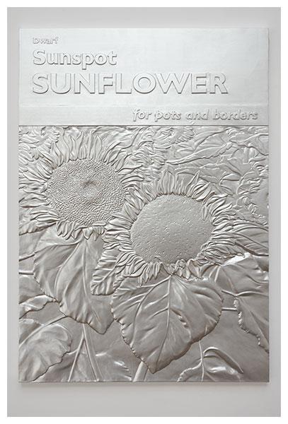Charles Ray, Sunflower relief (2011), via Matthew Marks