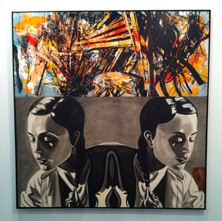 David Salle at Galerie Thaddeus Ropac, via Art Observed
