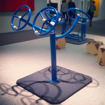 Exercise Equipment by Polit-Sheer-Form-Office, via Art Observed