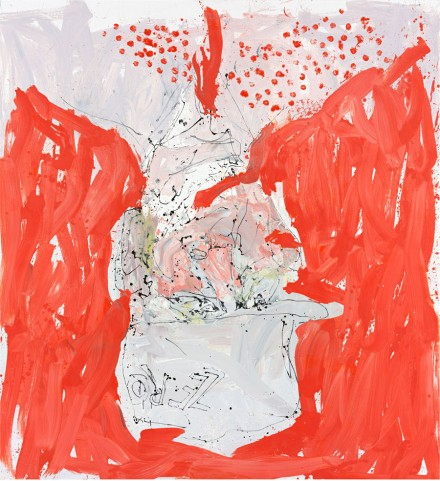 Georg Baselitz, Auch wirt lern helmt mich (Able fwill red) (2013)