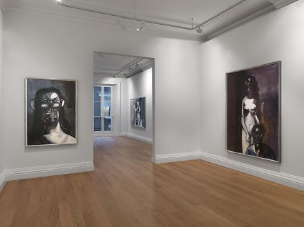 George Condo, Ink Drawings (Installation View), via Skarstedt