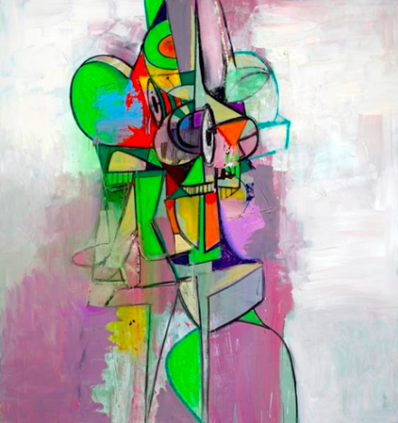 George Condo, Screeching Figure (2013), via Simon Lee