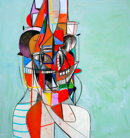 George Condo, Street Tiger (2013), via Simon Lee