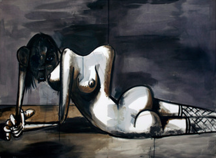 George Condo, The Discarded Human (2013), via Skarstedt