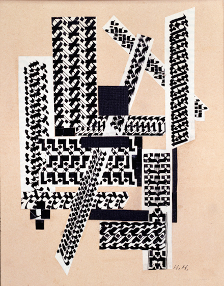 Hannah Höch, Rohrfeder Collage (Reed Pen Collage) (1922)