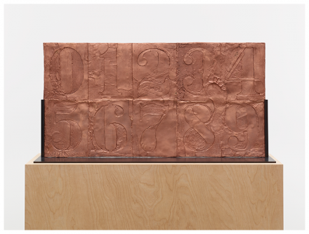 Jasper Johns, 0-9 (2009-2012), via Matthew Marks