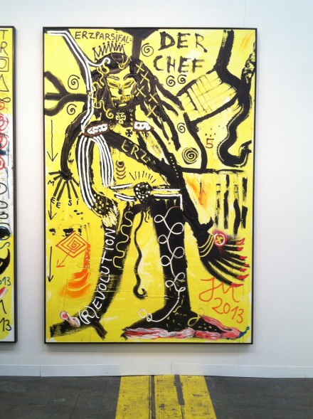 Jonathan Meese at Sies and Hoeke, via Art Observed