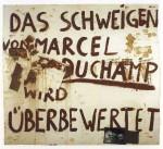 Joseph Beuys's Das Schweigen von Marcel Duchamp wird überbewertet, 1964, via Art Newspaper