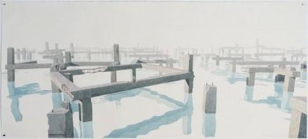Los Carpinteros, Cimientos En El Agua I, (2013), via Sean Kelley Gallery