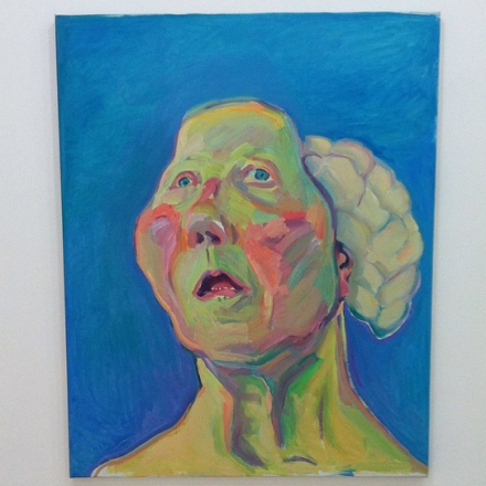 Maria Lassnig, Lady with Brain, via Art Observed