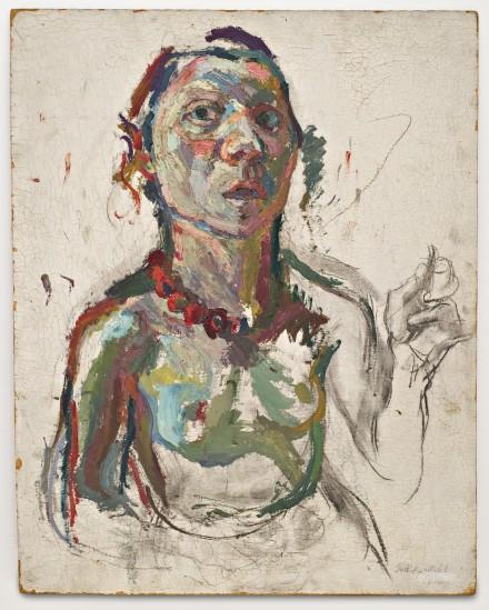 Maria Lassnig Selbstporträt expressiv (1945), Courtesy MoMA PS1